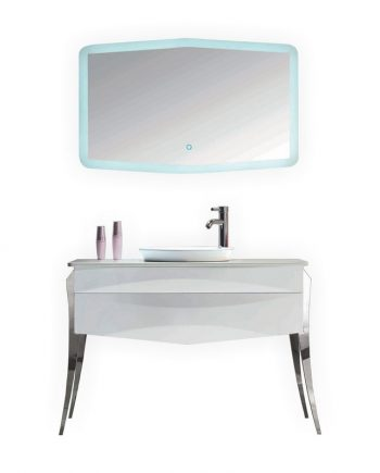 KUBE RISO 43.5″ MODERN BATHROOM VANITY – WHITE