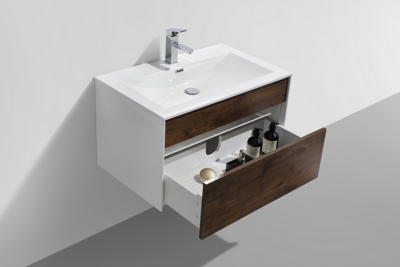 Fitto 32 Quot Rose Wood Wall Mount Modern Bathroom Vanity