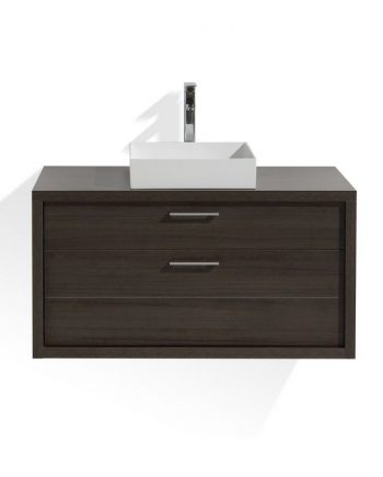 TUCCI 42″ GRAY OAK WOOD WALL MOUNT MODERN BATHROOM VANITY
