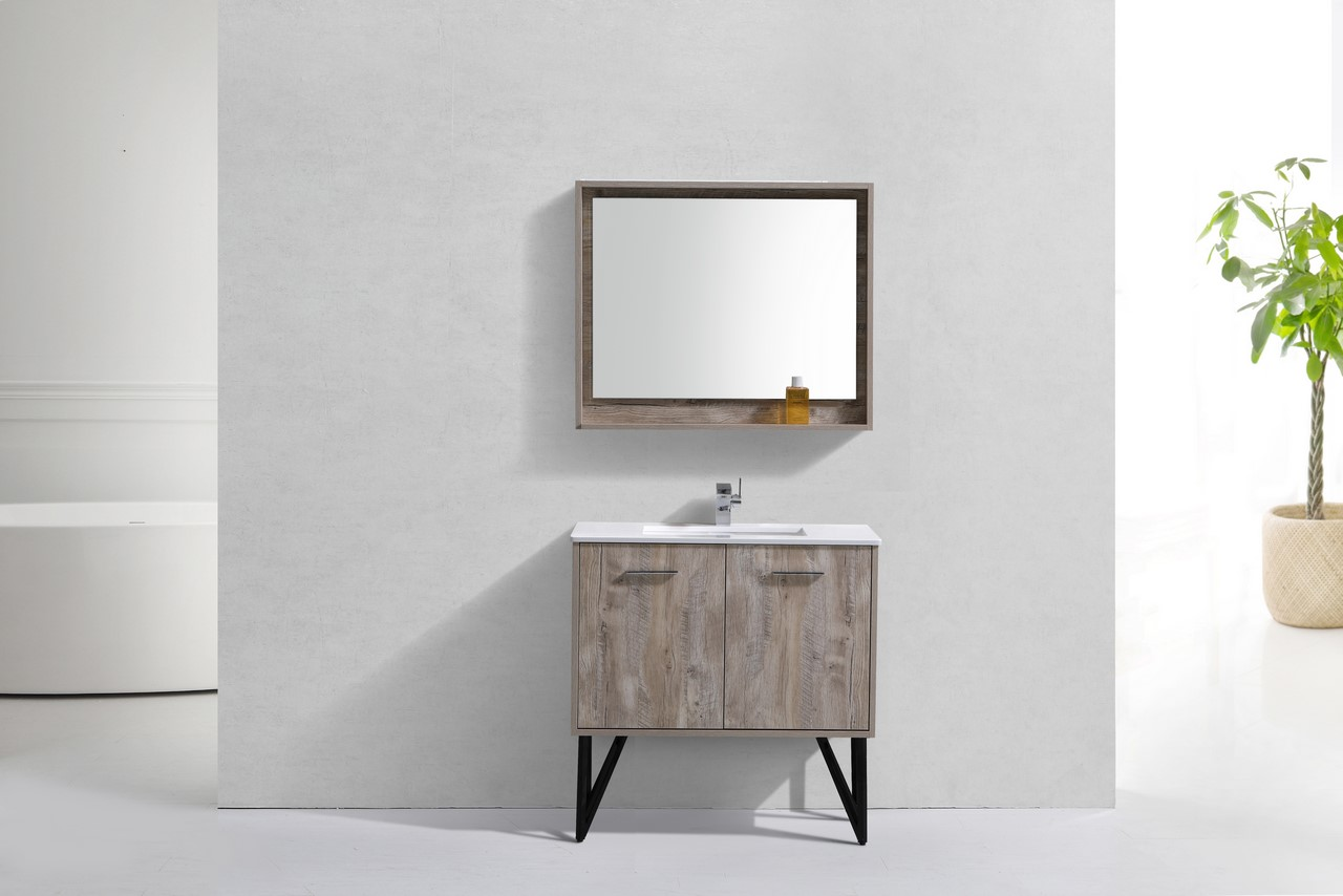 Bosco 36 Quot Modern Bathroom Vanity And Matching Mirror