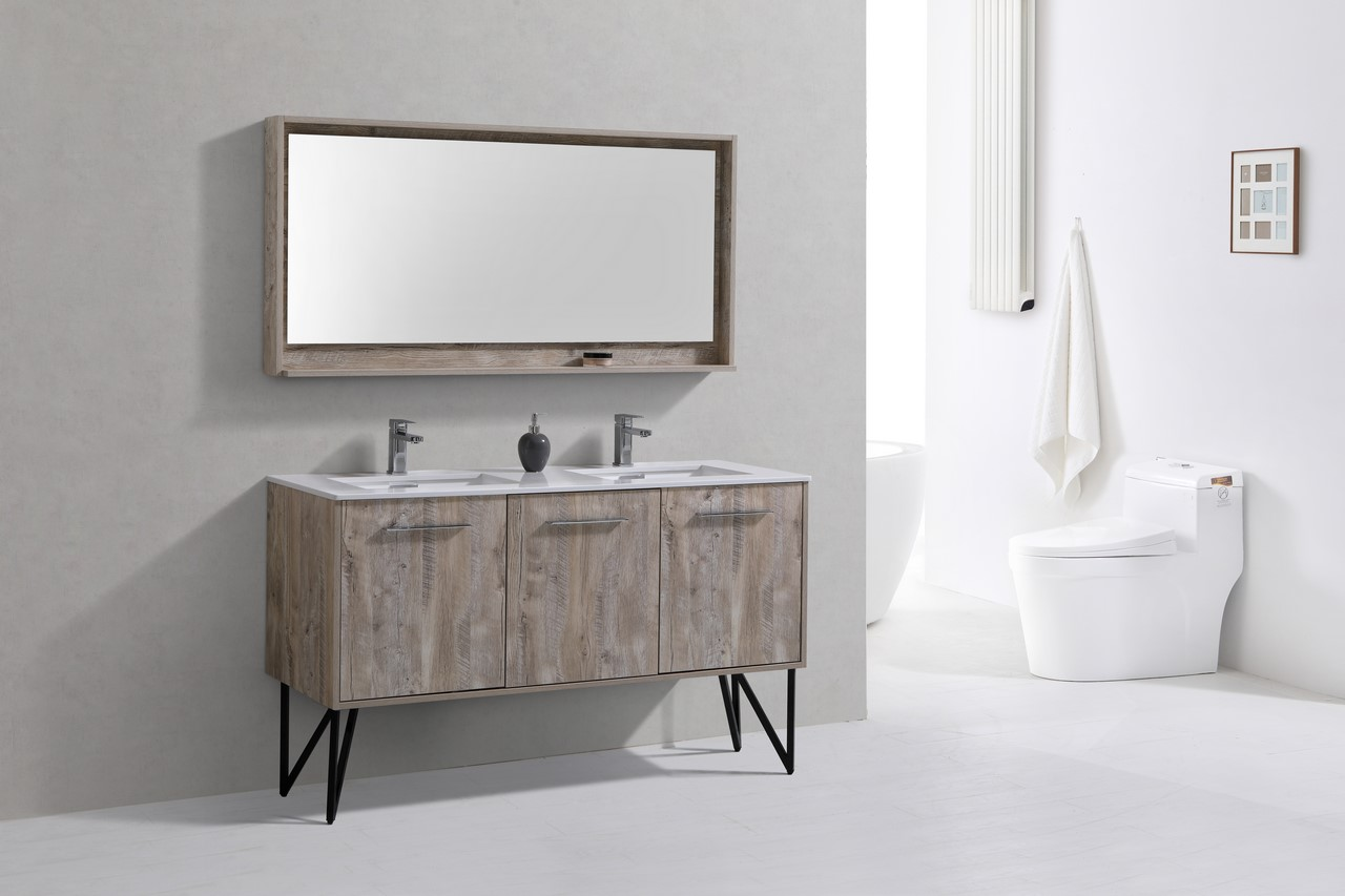 Matching Vanity Light And Mirror : Bosco 60