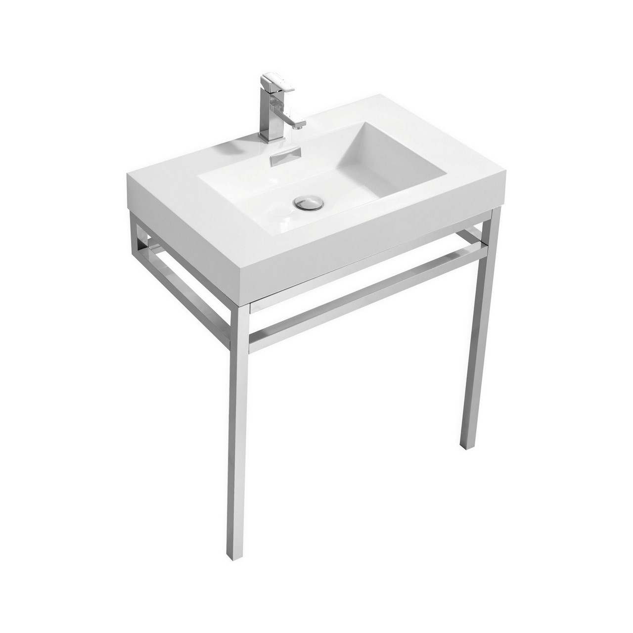 Haus 30 Quot Stainless Steel Console W White Acrylic Sink