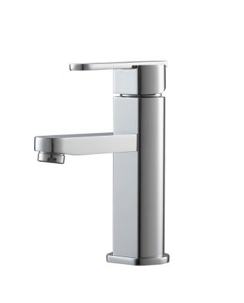 Aqua Roundo Single Hole Mount Bathroom Vanity Faucet - Chrome