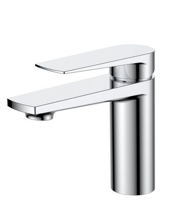 Aqua Letti Single Lever Wide Spread Bathroom Vanity Faucet - Chrome
