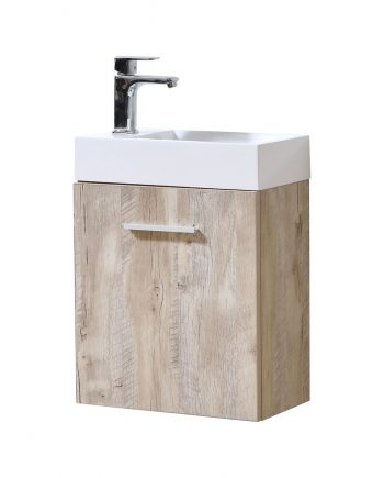 "Bliss 18"" Nature Wood Wall Mount Modern Bathroom Vanity"