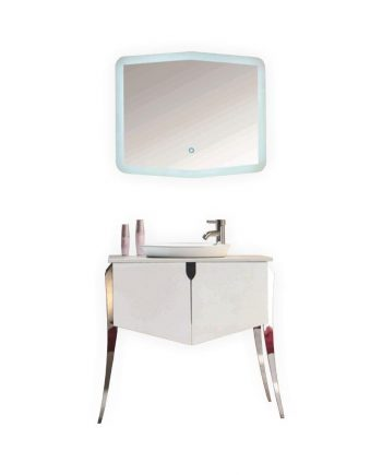 "KUBE RISO 32"" MODERN BATHROOM VANITY - WHITE"