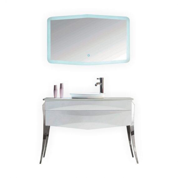 KUBE RISO 43.5″ MODERN BATHROOM VANITY – WHITE