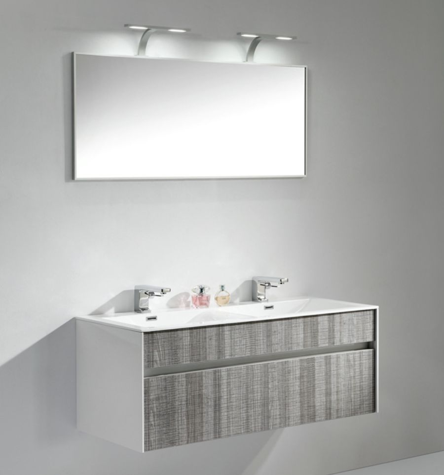 Fitto 48 Quot Double Sink Ash Gray Wall Mount Vanity