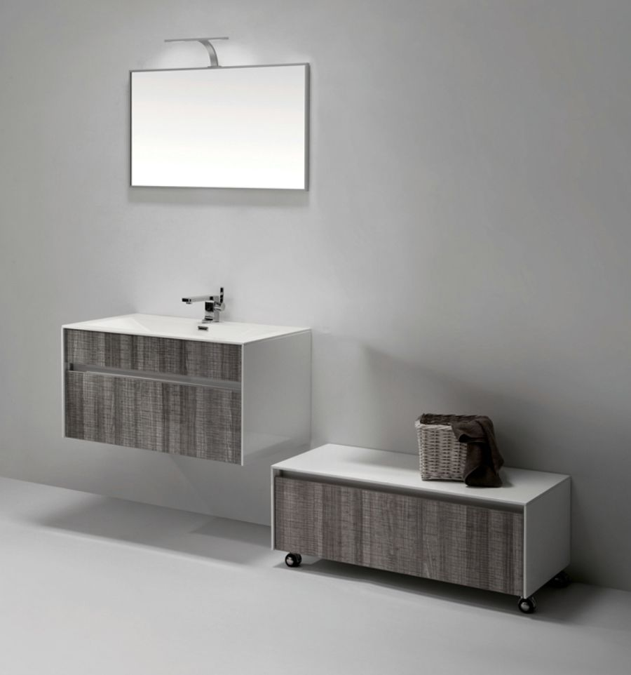 Fitto 36 Quot Hash Gray Wall Mount Modern Bathroom Vanity