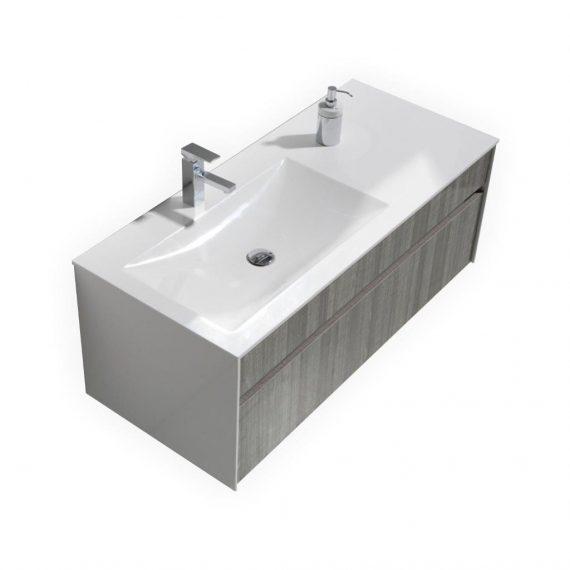 FITTO 48″ ASH GRAY WALL MOUNT MODERN BATHROOM VANITY