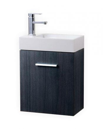 "Bliss 18"" Chestnut Wall Mount Modern Bathroom Vanity ..."
