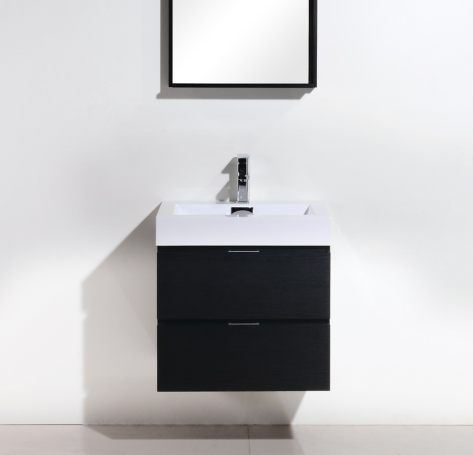 Bliss 24 Quot Black Wall Mount Vanity