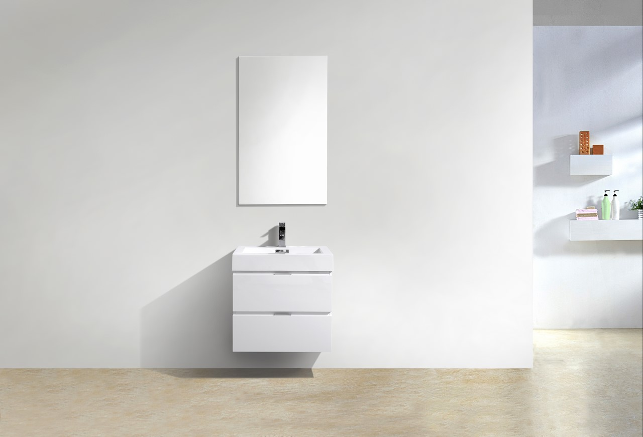Bliss 24 Quot High Gloss White Wall Mount Vanity