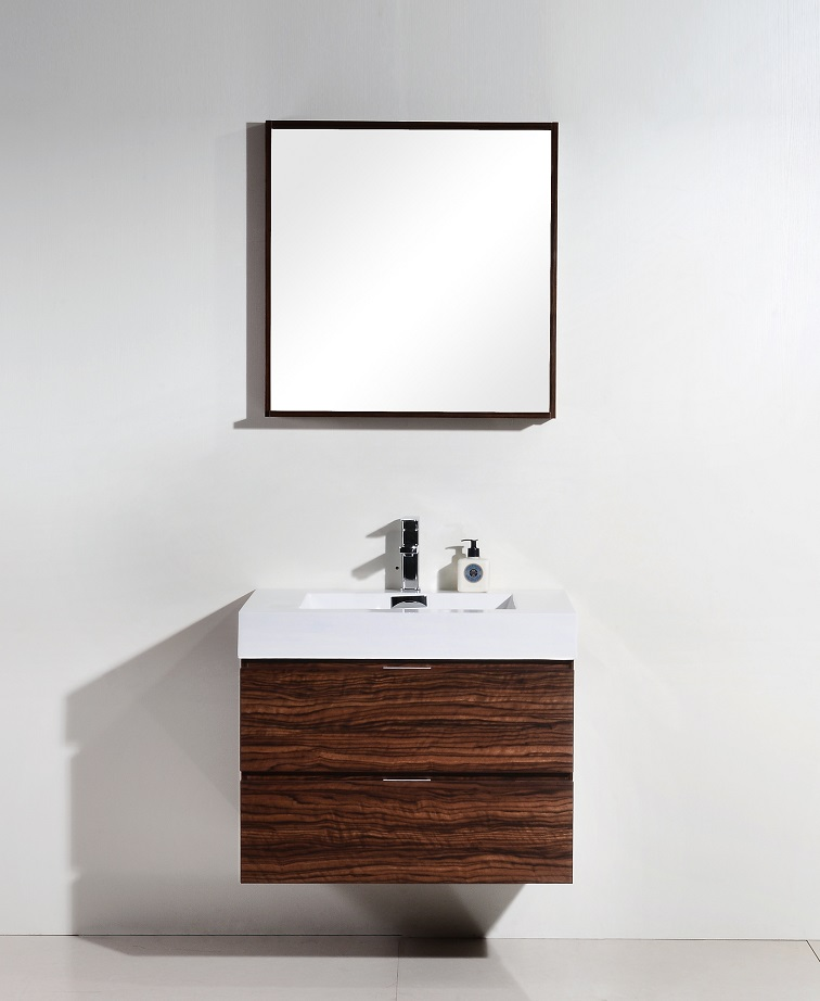 Bliss 30 Quot Walnut Wall Mount Vanity