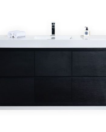 BLISS 60″ SINGLE SINK BLACK FREE STANDING MODERN BATHROOM VANITY