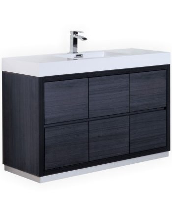 BLISS 60″ SINGLE SINK GRAY OAK FREE STANDING MODERN BATHROOM VANITY