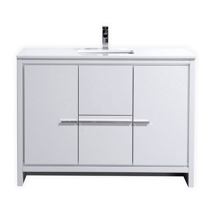 KubeBath Dolce 48″ High Gloss White Bathroom Vanity on 48 bathroom mirrors, 48 bathroom rugs, 48 bathroom vanity base only, 48 bathroom countertops, 48 bathroom lights, avanity vanities, 48 bathroom towel bar, 48 bathroom vanity white, 48 bathroom wall tile,