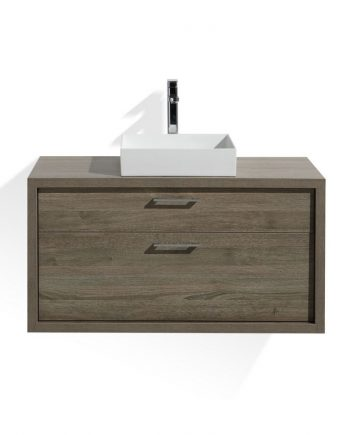 TUCCI 42″ HAVANA OAK WOOD WALL MOUNT MODERN BATHROOM VANITY