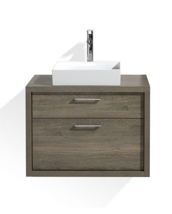 TUCCI 30″ HAVANA OAK WOOD WALL MOUNT MODERN BATHROOM VANITY