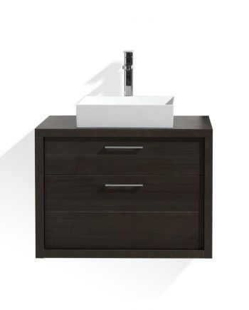 TUCCI 30″ GRAY OAK WOOD WALL MOUNT MODERN BATHROOM VANITY