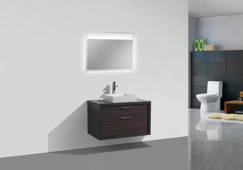 tucci 36″ dark gray oak wood wall mount bathroom vanity