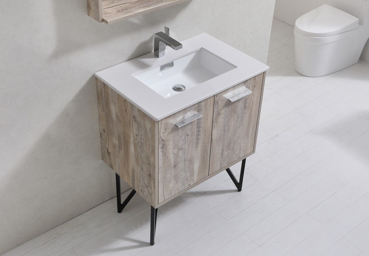 Forest 30 Quot Modern Bathroom Vanity W Quartz Countertop And
