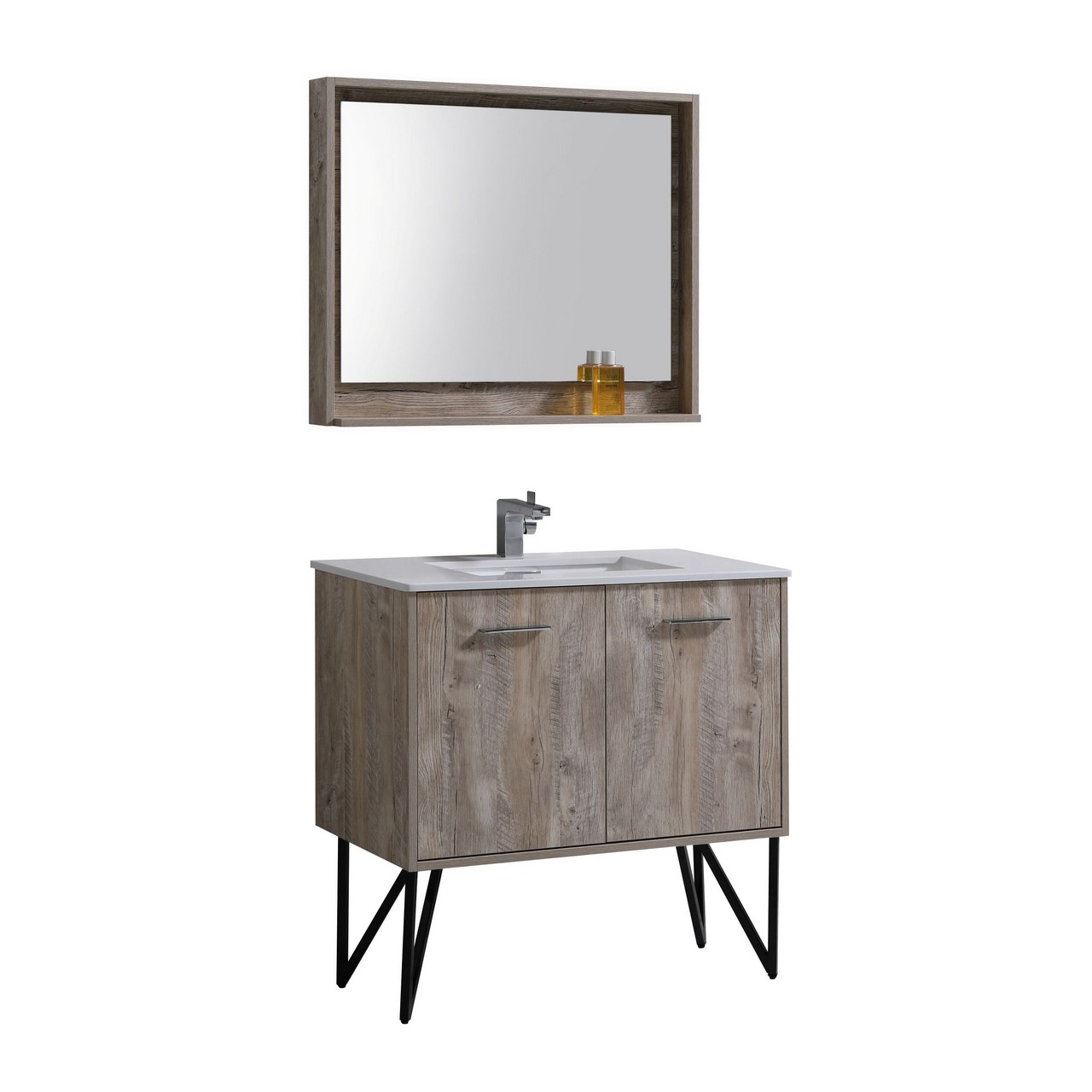 """36 Modern Grey White Bathrooms That Relax Mind Body Soul: Forest 36"""" Modern Bathroom Vanity And Matching Mirror"""