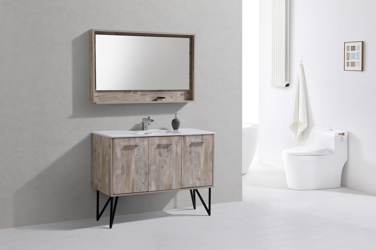 "Forest 48"" Modern Bathroom Vanity And Matching Mirror"