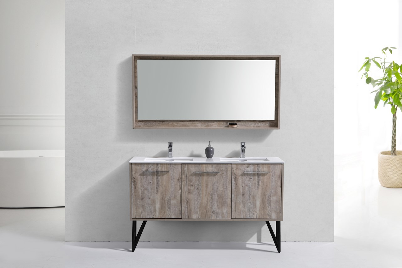 Forest 60 Quot Modern Bathroom Vanity And Matching Mirror