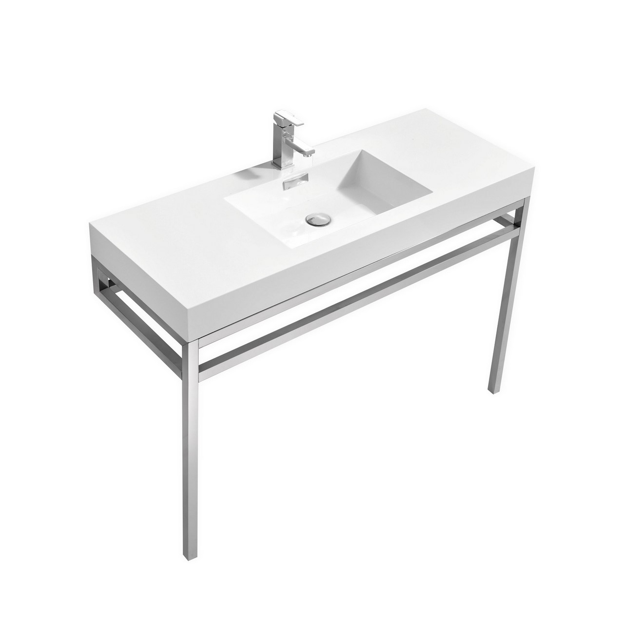Haus 48 Quot Stainless Steel Console W White Acrylic Sink