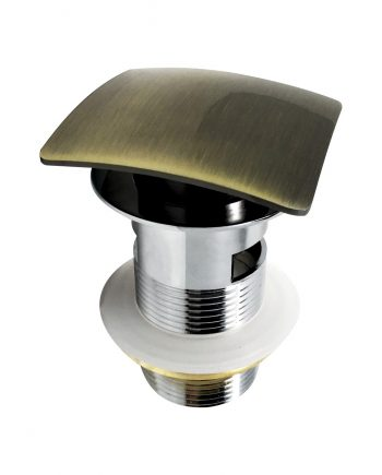 Solid Brass Construction Square Pop-Up Drain W/ Gold Bronze Finish - With Overflow