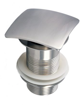 Solid Brass Construction Square Pop-Up Drain W/ Brush Nickel Finish - Without Overflow