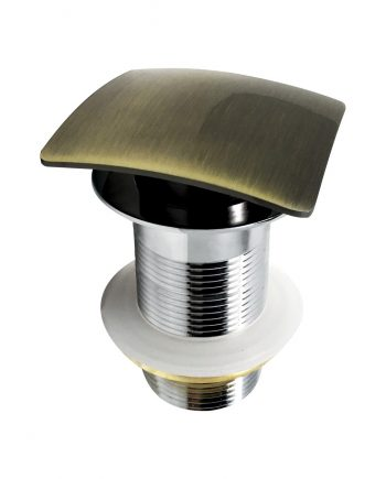 Solid Brass Construction Square Pop-Up Drain W/ Gold Bronze Finish - No Overflow
