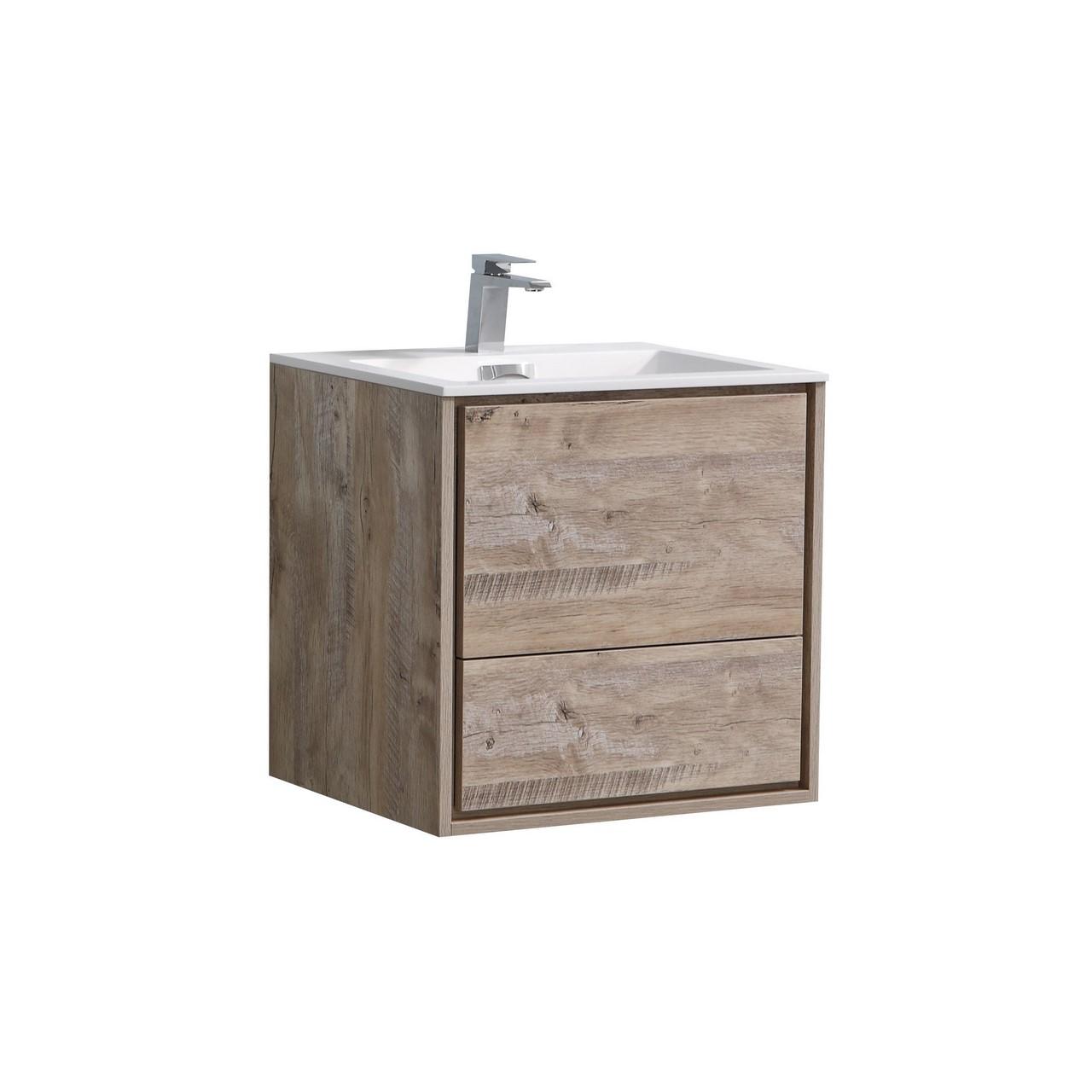De Lusso 24 Quot Nature Wood Wall Mount Modern Bathroom Vanity