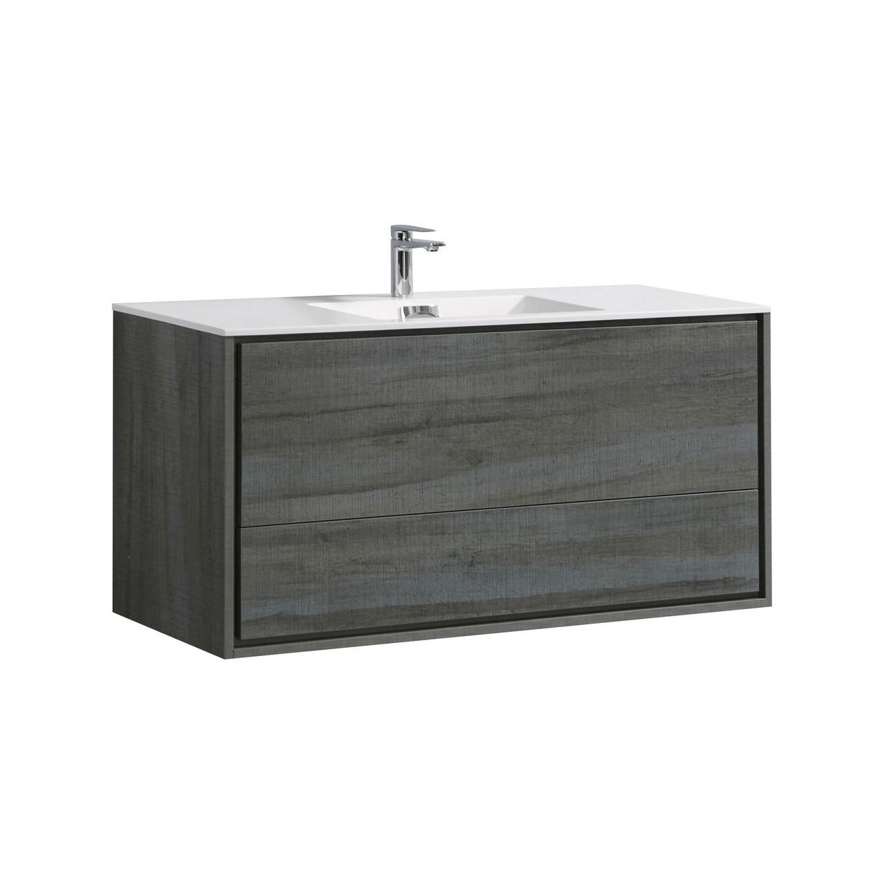 De Lusso 48 Quot Single Sink Ocean Gray Wall Mount Modern
