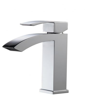 Aqua Balzo Single Lever Wide Spread Bathroom Vanity Faucet - Chrome