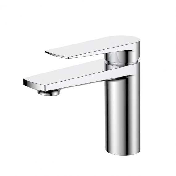 Aqua Letti Single Lever Wide Spread Bathroom Vanity Faucet - Chrome