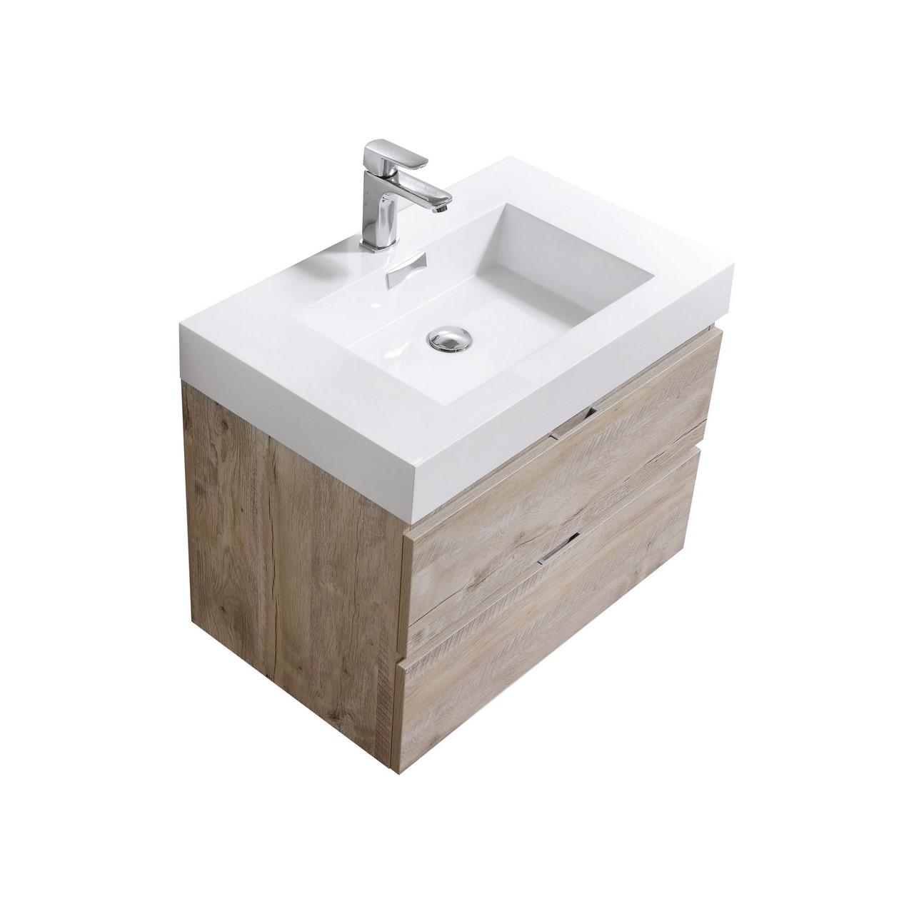 Bliss 30 Quot Nature Wood Wall Mount Modern Bathroom Vanity