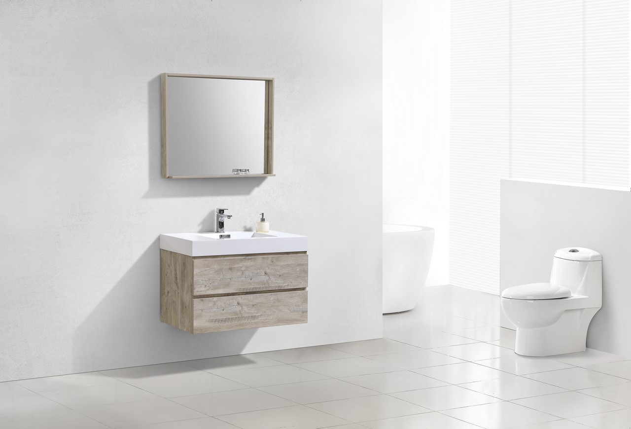 Bliss 36 Quot Nature Wood Wall Mount Modern Bathroom Vanity