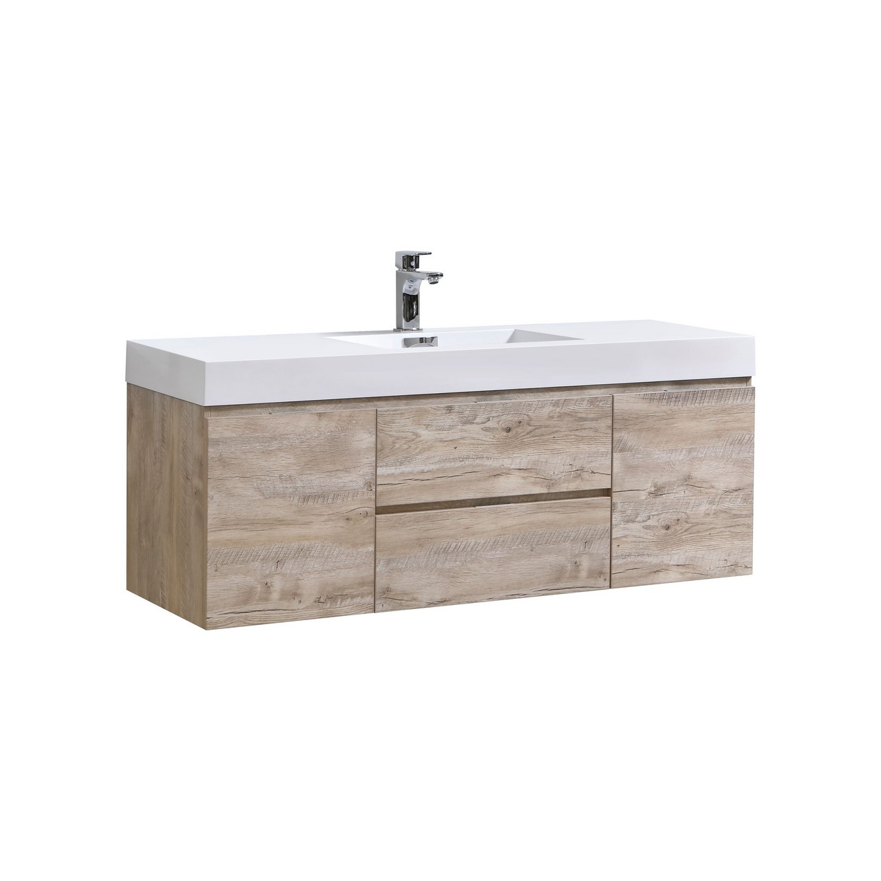 Bliss 60 Quot Nature Wood Wall Mount Single Sink Modern