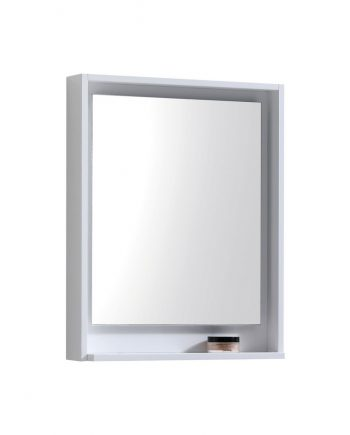 "24"" Wide Mirror w/ Shelve - High Gloss White"
