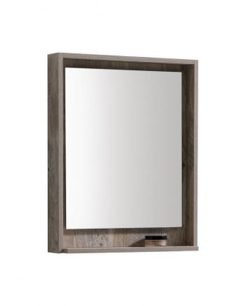 "24"" Wide Mirror w/ Shelve - Nature Wood"