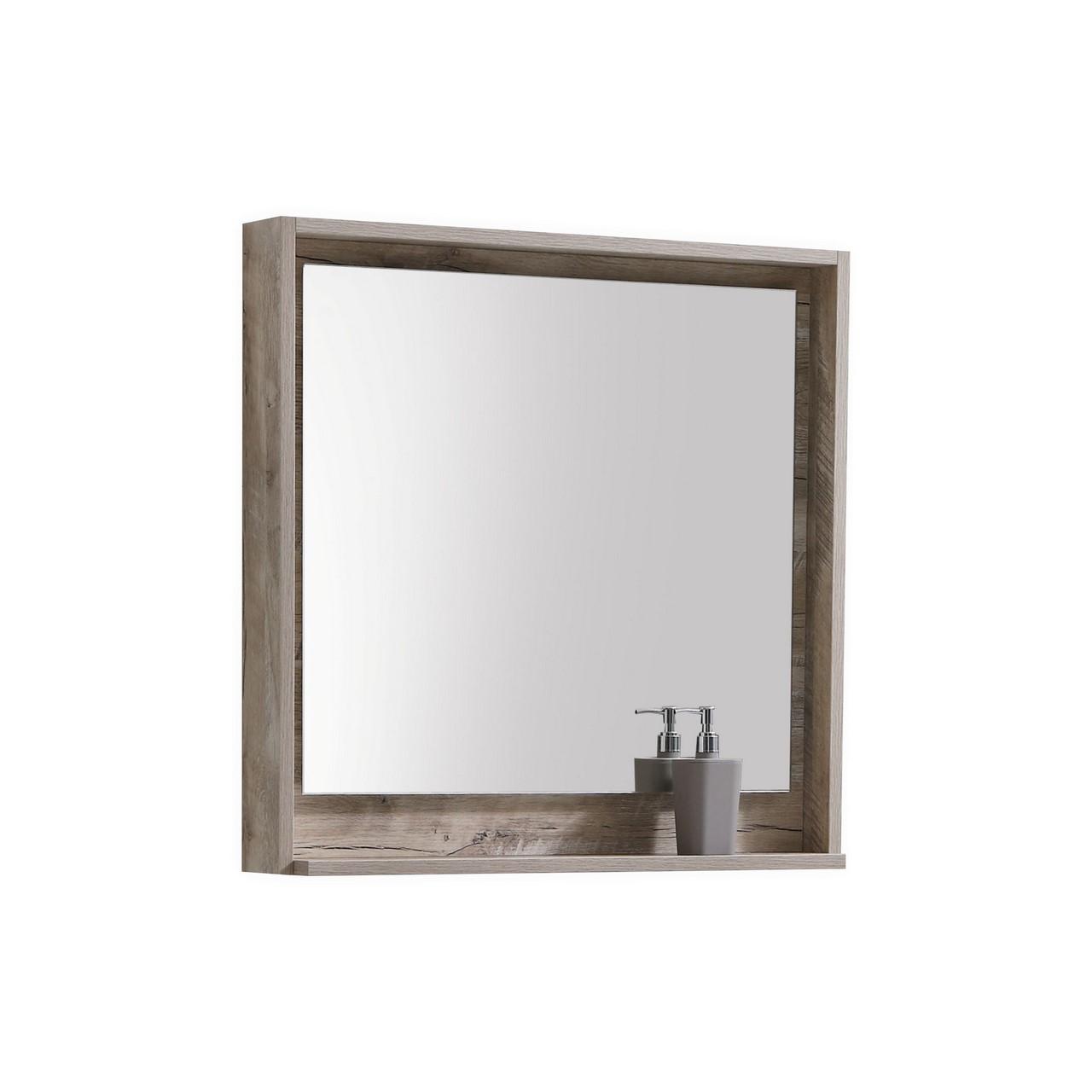 30 Quot Wide Mirror W Shelf Nature Wood Montreal Vanity