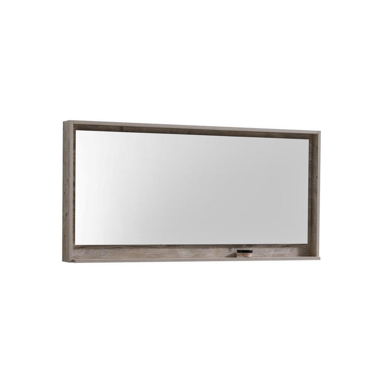 60 Quot Wide Mirror W Shelf Nature Wood Montreal Vanity