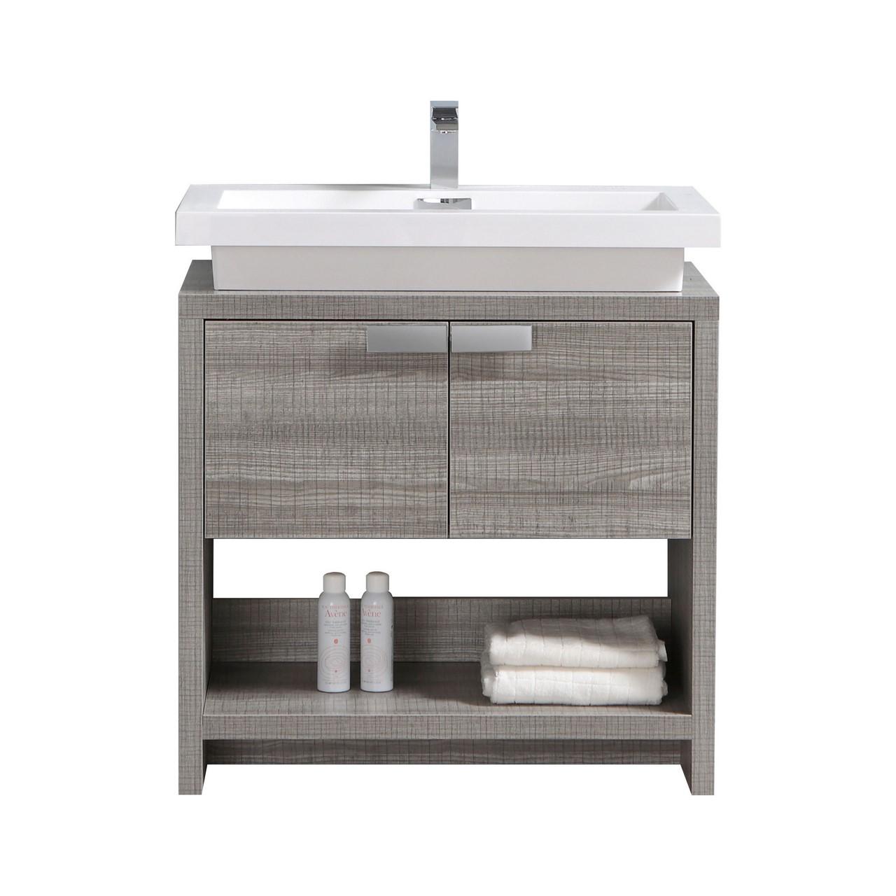 Ash Gray Modern Bathroom Vanity