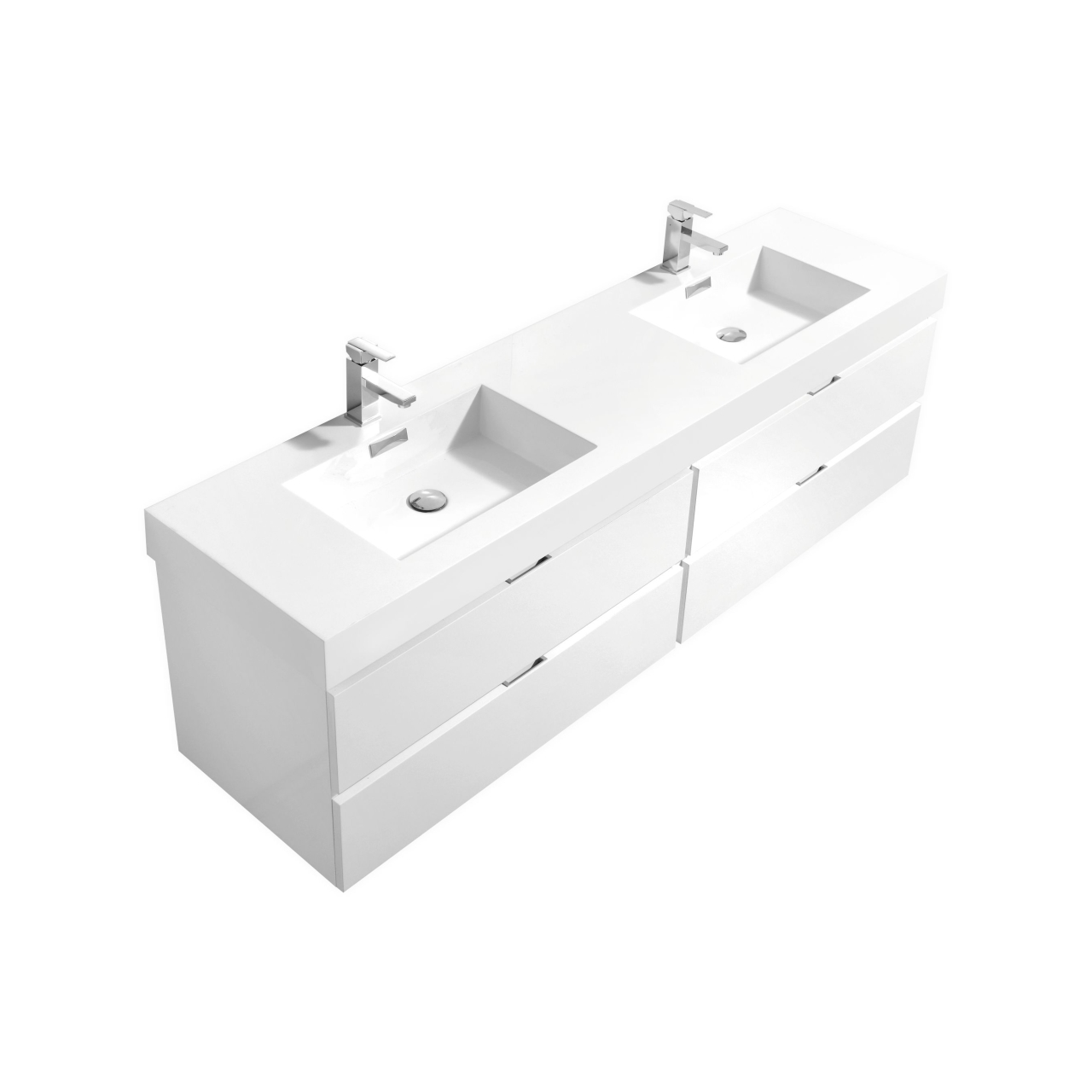 72 bathroom vanity single sink bliss 72 quot high gloss white wall mount single sink vanity 21873