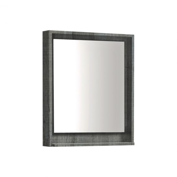 "24"" Wide Mirror w/ Shelf - Ocean Gray"