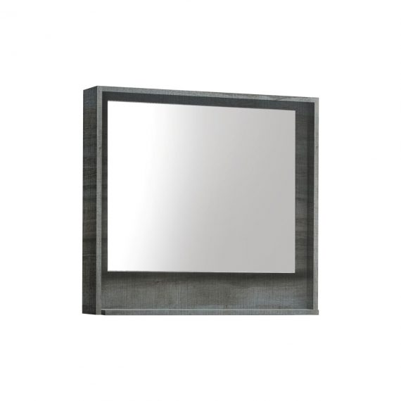 "30"" Wide Mirror w/ Shelf - Ocean Gray"
