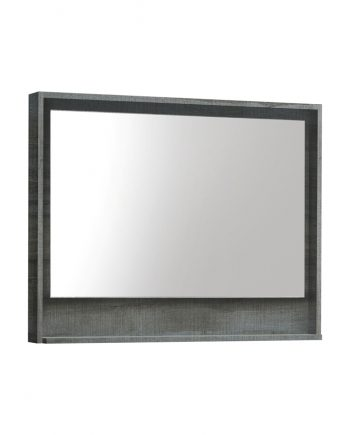 "36"" Wide Mirror w/ Shelf - Ocean Gray"