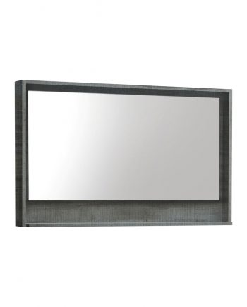 "48"" Wide Mirror w/ Shelf - Ocean Gray"